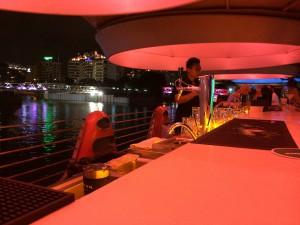 Stylish waterfront bar at Clarke Quay