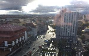 Raindrops on my hotel window