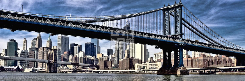 NYC Brooklyn bridge panorama