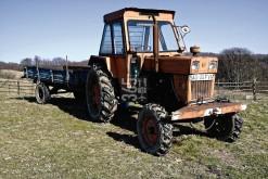 UTB branded farm tractor from the 1970s. UTB = Uzina Tractorul Brasov (Romania).