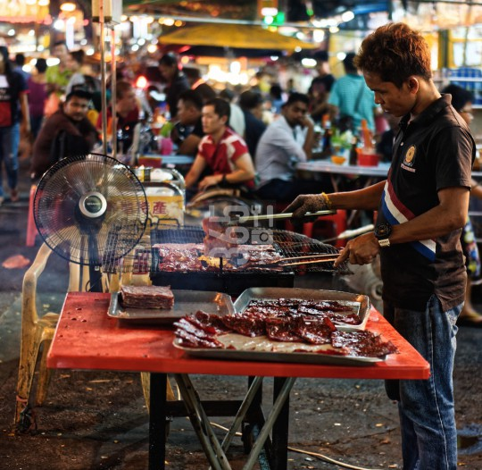 Cooking stand in nightly KL