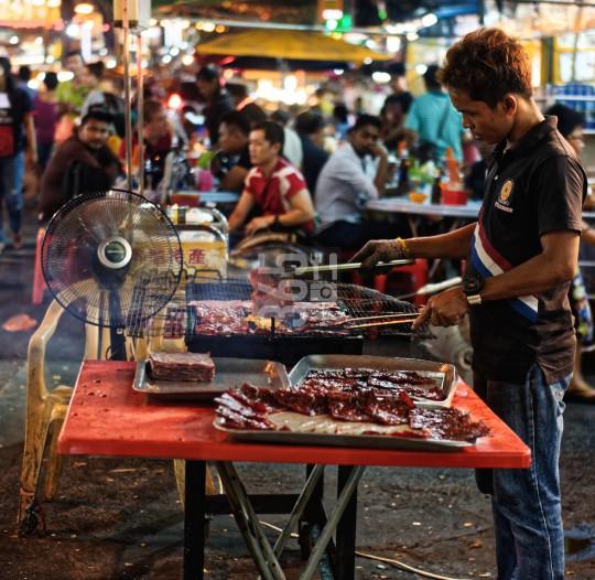 Kuala Lumpur street cooking stand