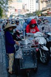 Street trader in Saigon, Vietnam