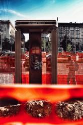 Moscow public phone booth on Leningradskiy prospekt