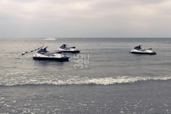 Jet ski waiting for users on Black Sea, Sunny Beach, BG