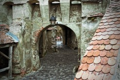 Sighisoara (Schässburg), Transylvania, clock tower basement